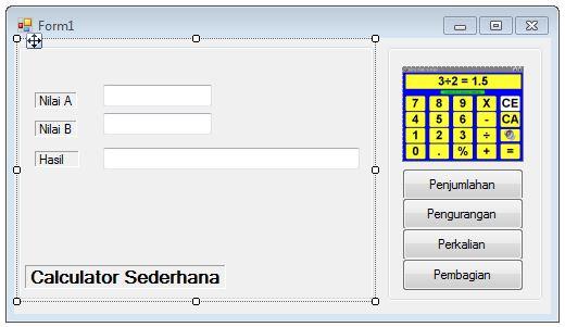 Visual Basic Net Membuat Kalkulator Sederhana Dengan Vb Kodevb