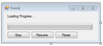 visual basic progressbar how to stop resume and reset kodevb